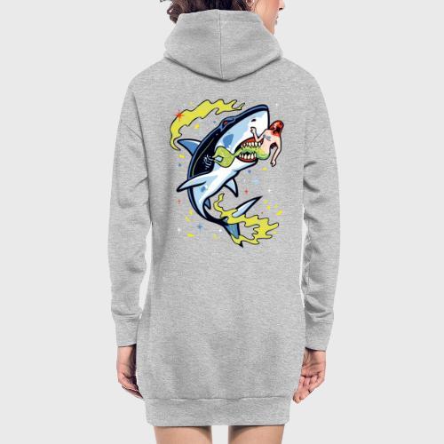 Requin mangeur de sirène - Sweat-shirt à capuche long Femme