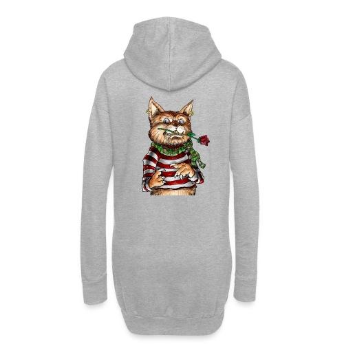 T-shirt - Crazy Cat - Sweat-shirt à capuche long Femme