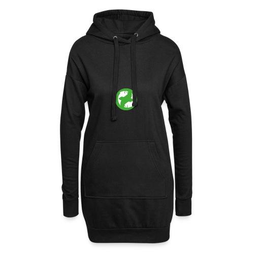 logo-simple - Sweat-shirt à capuche long Femme