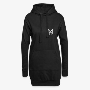 White MG Overlay - Hoodie Dress