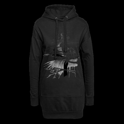 Ein Ort (grau) - Hoodie-Kleid