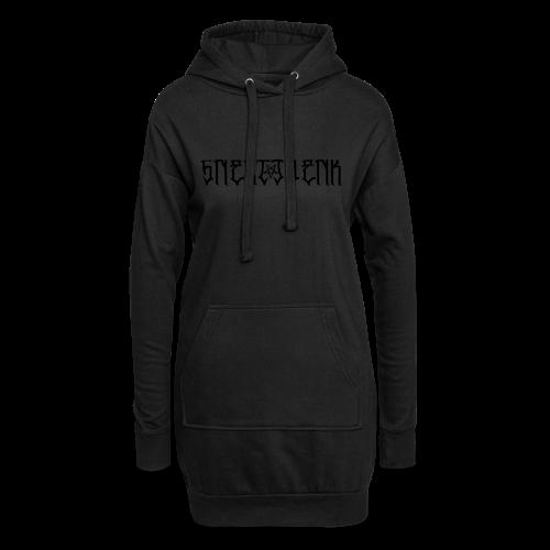 BLACK SNERTJOENK BLACK PENTAGRAM - Hoodie Dress
