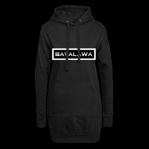 SavaLawa Schrift Schwarz/Weiß - Hoodie-Kleid