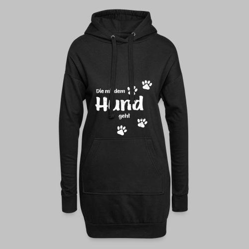 Die mit dem Hund geht - Used Look - Hoodie-Kleid