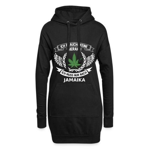 Jamaica Hanfblatt T-Shirt Urlaub - Hoodie-Kleid