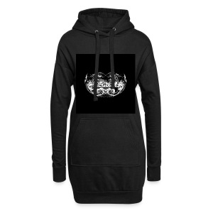 Holy Spirit Fractal 2 White On Black Trippy Text - Hoodie Dress