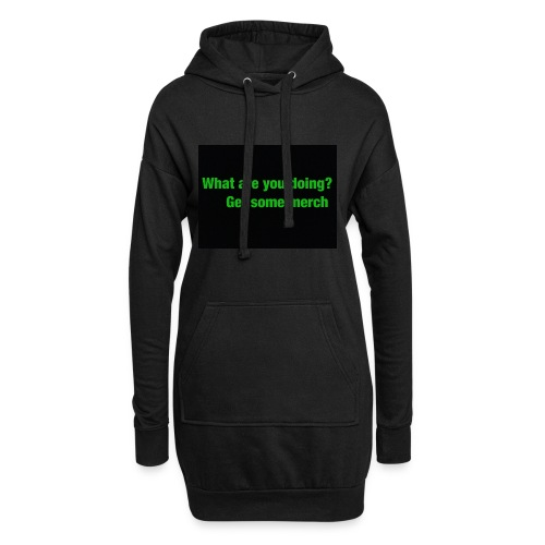 what are you doing merch - Hoodie Dress