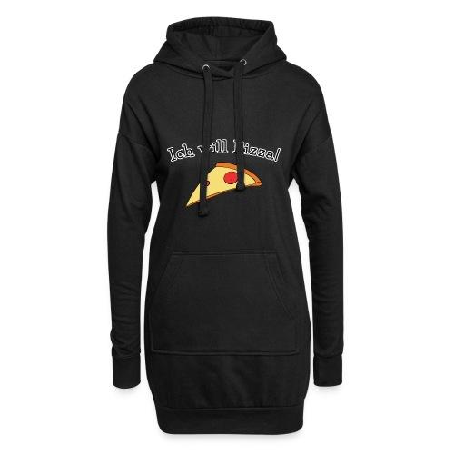 Ich will Pizza das Design zum Kartenspiel - Hoodie-Kleid