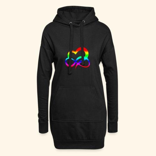 ZEICHEN LIEBE BEZIEHUNG LGBT REGENBOGEN GESCHENK - Hoodie-Kleid
