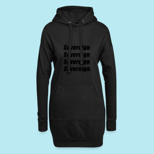Sovereign Black Repeat - Hoodie Dress