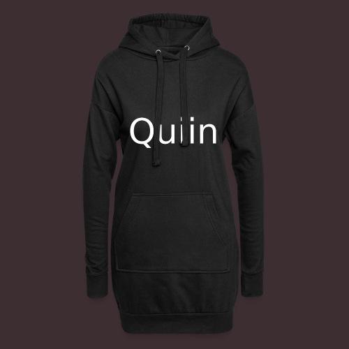 White_Quiin_outline - Hoodie-Kleid