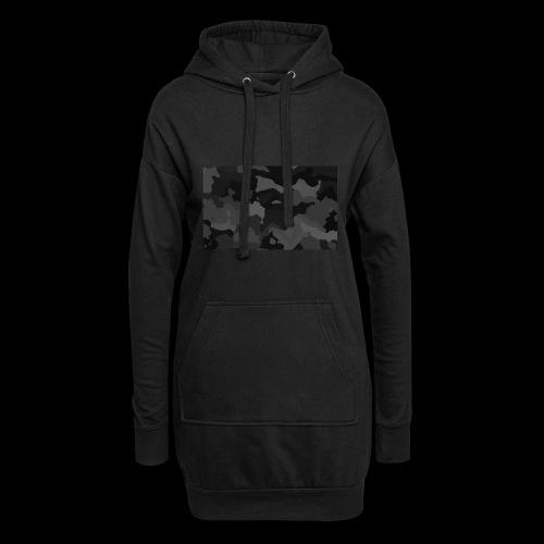 Camouflage-Black - Hoodie-Kleid