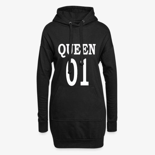 Queen01white - Hoodie-Kleid