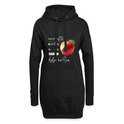 Auch wir mussten in den sauern Apfel beissen - Hoodie-Kleid