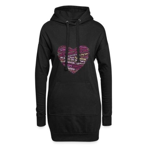 Hjerte - Hoodie-kjole