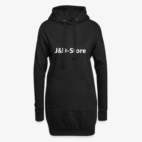 Schwarze Klamotten mit weißer J&D-Shop Schrift - Hoodie-Kleid