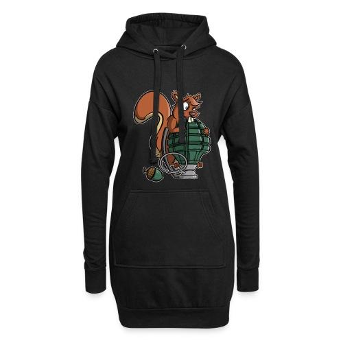 Eichhörnchen Granate - Hoodie-Kleid