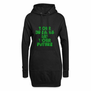 Future Clothing Slogan - Green Text - Hoodie Dress