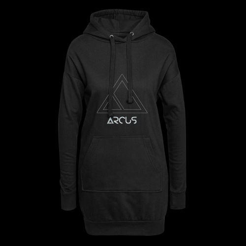 Arcus logo Blanc - Sweat-shirt à capuche long Femme