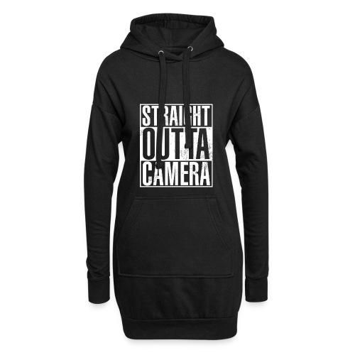 Straight Outta Camera - Black - Hoodie-Kleid