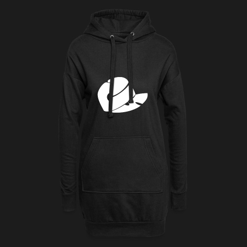 CS Capsucht logo wei - Hoodie-Kleid