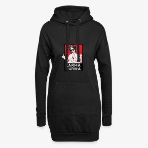 Karma kurwa - Długa bluza z kapturem