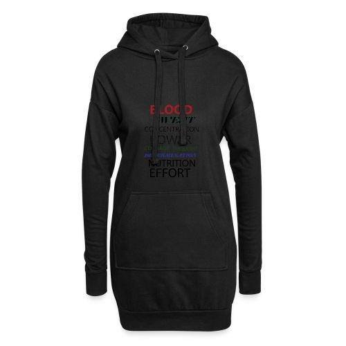 Gym typeography - Hoodie Dress