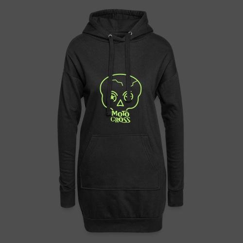 MX Skull No.5 - Długa bluza z kapturem