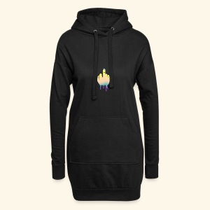 middle finger - Hoodie Dress
