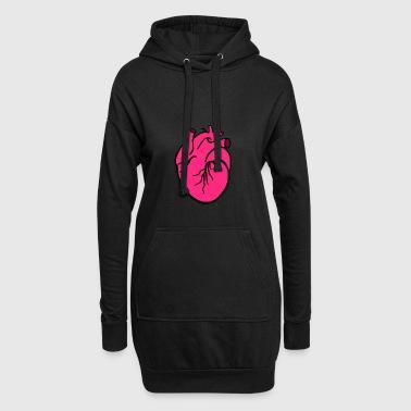Heart - Hoodie-Kleid