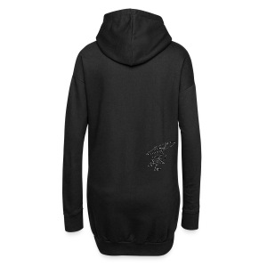 ccTLD Line - Black Signature / White outline - Hoodie-Kleid