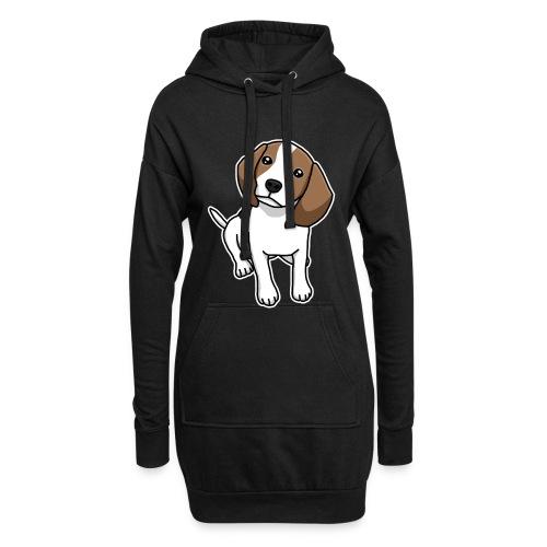 Beagle, Hund, Hunderasse, Comic, Geschenkidee - Hoodie-Kleid