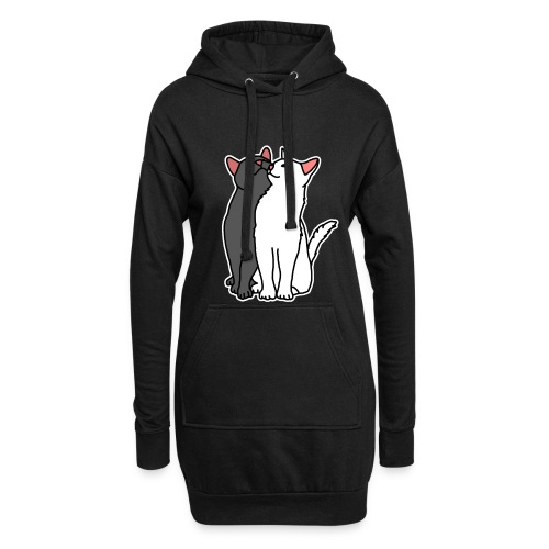 Katzen, kuscheln, süß, Comic, Geschenkidee - Hoodie-Kleid