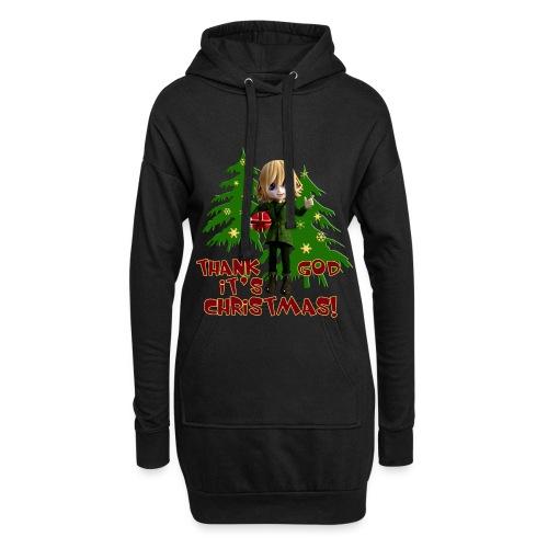 Weihnachtself Thank God it´s Christmas! - Hoodie-Kleid