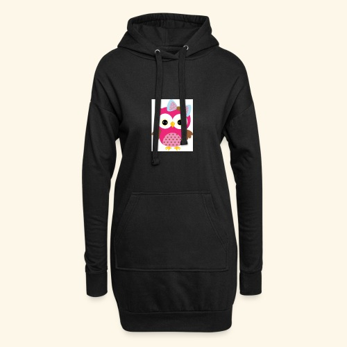 Girly Owl - Hoodie Dress