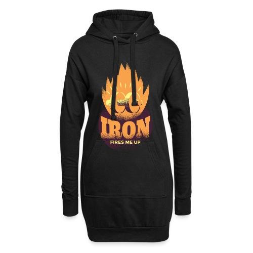 Eisen Feuer feuert mich an Bodybuilding Fitness - Hoodie-Kleid
