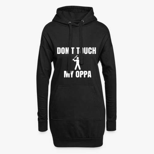 Don't touch my oppa - Sweat-shirt à capuche long Femme