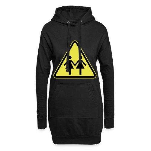 ACHTUNG LESBEN POWER! Motiv für lesbische Frauen - Hoodie-Kleid