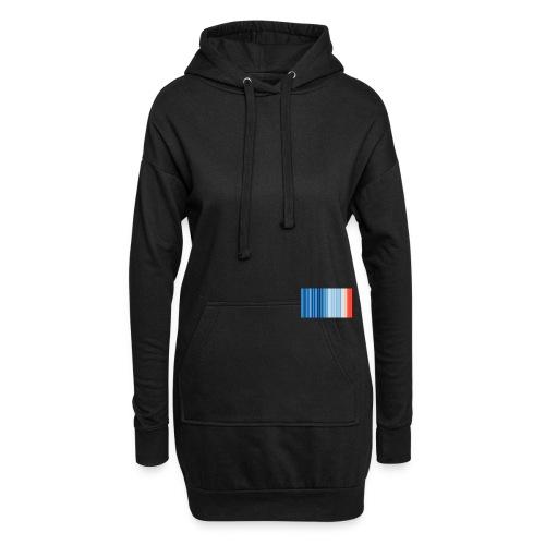 Klimawandel - Warming Stripes - Wärmestreifen - Hoodie-Kleid