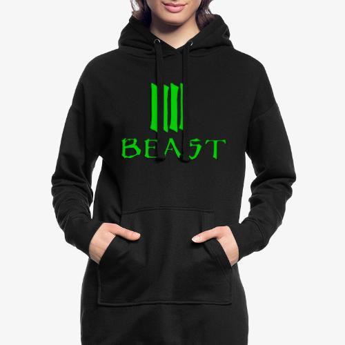 Beast Green - Hoodie Dress