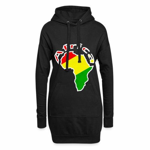 Afrika - rot gold grün - Hoodie-Kleid