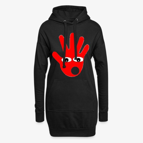 Hände mit Augen - Sweat-shirt à capuche long Femme