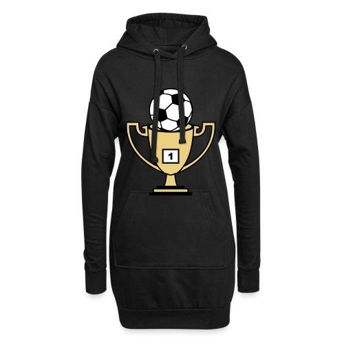 Pokal mit Fussball - Hoodie-Kleid