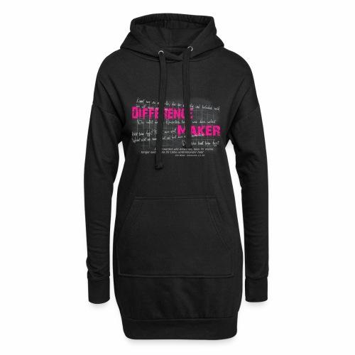 Difference Maker pink - Hoodie-Kleid