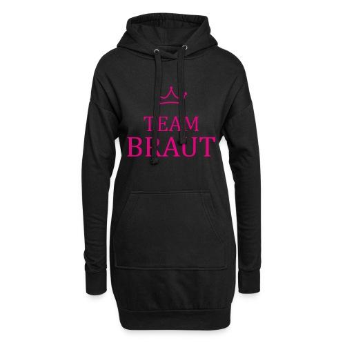 Team Braut pink Junggesellinnenabschied - Hoodie-Kleid