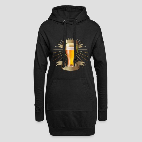 Beer is my religion - Sweat-shirt à capuche long Femme