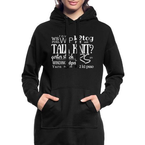Talk Knit ?, white - Hoodie Dress