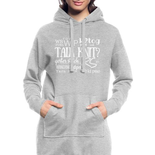 Talk Knit ?, white - Hoodie Dress