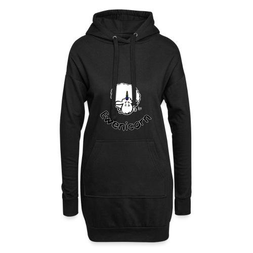 Ewenicorn (schwarze Ausgabe schwarzer Text) - Hoodie-Kleid