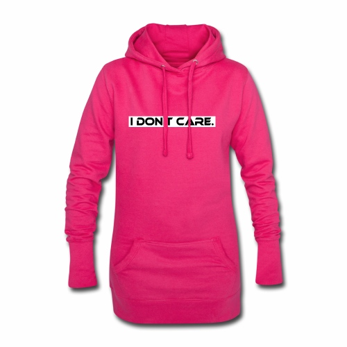 I DON T CARE Design, Ist mit egal, schlicht, cool - Hoodie-Kleid